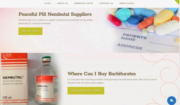 Peaceful Pill Website Scam page