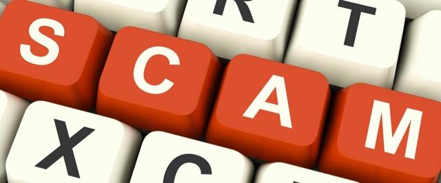 scam keyboard logo