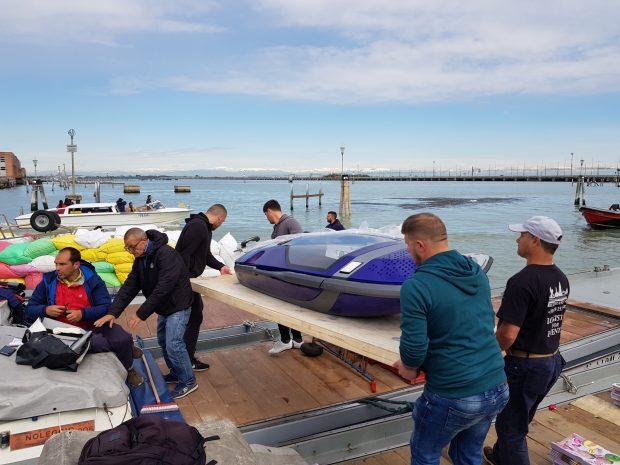 Sarco arrival at Venice port