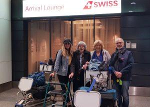 Laura Henkel with Philip Nitschke at Zurich at airport