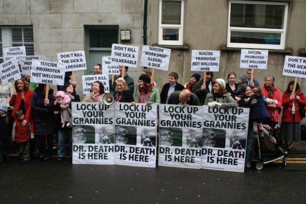 Demonstration against Dublin Workshop, 2011